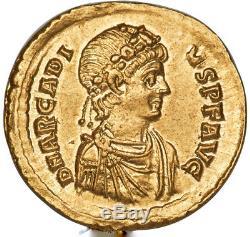 Roman Emperor Arcadius AV Solidus gold coin 383-408 AD Choice AU