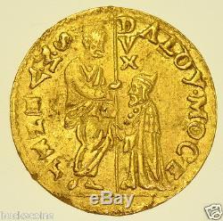 SCARCE ITALY, VENICE, ALVISE MOCENIGO I, ZECCHINI, (1570-1577) GOLD COIN aEF