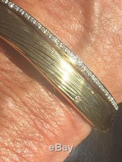 Striking 18k Yg And Diamond Elephant Pattern Bracelet By Roberto Coin Italy