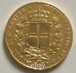 Sardinia 20 Lira 1831(P) Carlo Alberto 20 Lira Gold. 900 EF+
