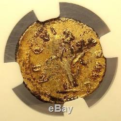 Severus Alexander as CAESAR. GOLD AUREUS. NGC VF. Roman Imperial coin. PLT. RARE