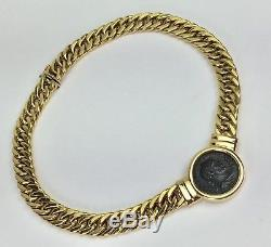 Solid 14k Gold Chain/necklace Authentic Ancient Greek Coin