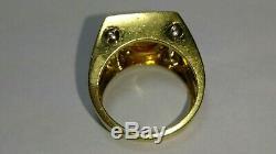 Solid heavy 18k gold roberto coin citrine ring 13.92 grams sz 7