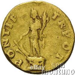 TITUS AS CAESAR Ancient Roman Empire Rare Gold VERY FINE Coin AV AUREUS 79-81BC