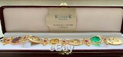 Tagliamonte 14K Gold Coin and Multicolored Cameo Bracelet