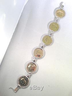 Vicenza Silver Sterling Authentic Lire Coin Bracelet (m521-5-21)