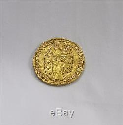 Venice Gold Ducat Doge Andrew Dandolo 1343-1354 Rare XF