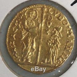 Very Fine 1789-1797 Venice Zecchino Ludovico Manin Gold Coin