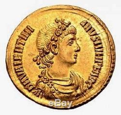Very Rare Roman Gold Coin Valentinian II AV Solidus Superb Condition MS