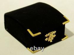 Vintage 14k Solid Gold Charm Bracelet Rare 1863 Italian 22k Coin, ex. Cond. 18+g