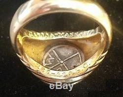 Vintage Bulgari Ancient Coin Ring 18k Yellow Gold Gallia-Massalia 385-220 bc