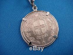 Vintage, Gold Coin Circa 1882 Italy, Set In 18k Gold Coin Holder 8.4 Grams