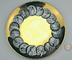 Vintage Piero Fornasetti 8 1/4 Plate ROMAN COINS Italian Italy Milan CAMMEI ORO