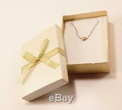 Vintage Roberto Coin 14k White/yellow Gold Diamond Slide Heart Necklace Pendant