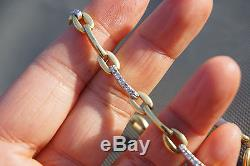 Vintage Roberto Coin 18K Yellow Gold Diamond Link Necklace 16 35.4g