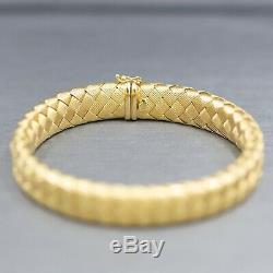 Vintage Roberto Coin Woven Silk Sapphire Bracelet in 18k Yellow Gold