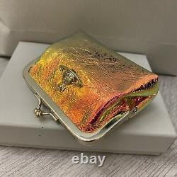 Vivienne Westwood Frame Small Zip Coins Pouch with Clip Closure Gold
